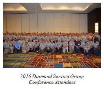 2016 Diamond Service Group Conference Attendees