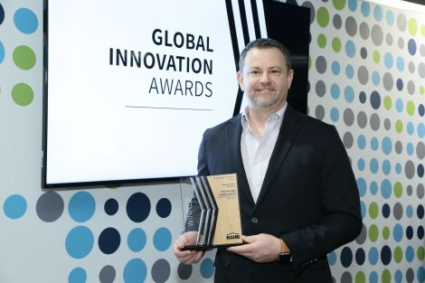Steve accepting award